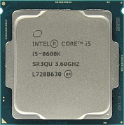CPU Intel Core i5-8600K  BOX (без кулера) 3.6 GHz/6core/SVGA UHD  Graphics 630/1.5+9Mb/95W/8  GT/s LGA1151