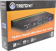 TRENDnet <TPE-1620WS> 16-port Gigabit Web Smart PoE+ Switch (16port  1000Mbps+2Combo 1000BASE-T/SFP)